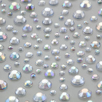325 x 2,3,4,5mm AB Clear Self Adhesive Gems