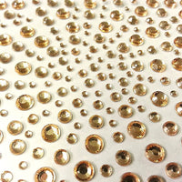 325 x 2,3,4,5mm Peach Self Adhesive Gems