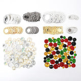 120 Metal Ornaments & 150 Resin Gems Embellishment Kit