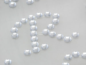 30 x 23mm Clear ABC Letters Self Adhesive Gems