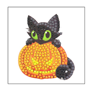 "Halloween Kitty - ""Everyday"" Crystal Art Motifs (With Tools)"