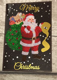 "Set of 6 ""Christmas"" Crystal Card Kits - Black, 10 x 15cm each"