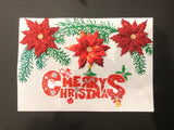 "Merry Christmas - ""Christmas"" Crystal Art Motifs (With Tools) - CAMK-40"