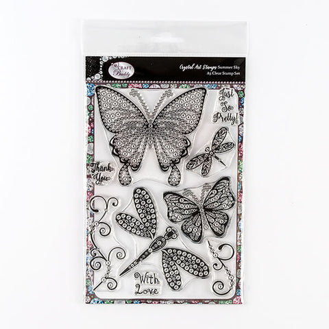 Summer Sky A5 Crystal Art Stamp Set - CCST2