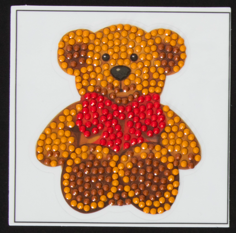 "Teddy Bear -  ""Christmas"" Crystal Art Motifs – (With Tools)"