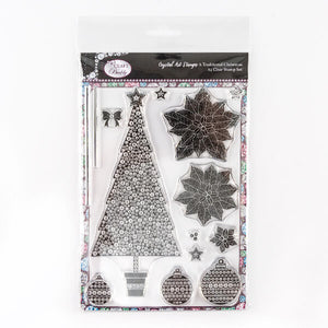 A Traditional Christmas - Crystal Art A5 Christmas Stamp Set