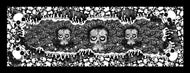 Skulls Black and White Foulard l 180 x 70