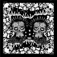 Skulls Black and White Foulard l 90 x 90