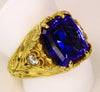"""Best of Show"" Designed Tanzanite Ring by Christopher Michael-18kt Yellow Gold"