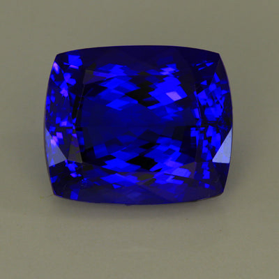 Tanzanite Antique Cushion 20.20 Carats of Extra-Ordinary