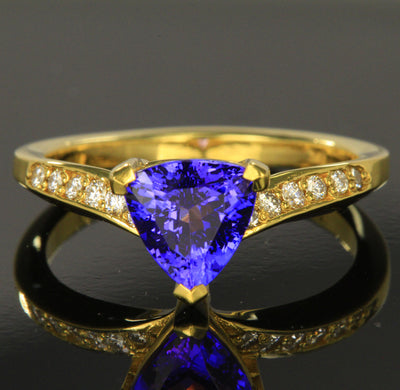 Trilliant Tanzanite Ring