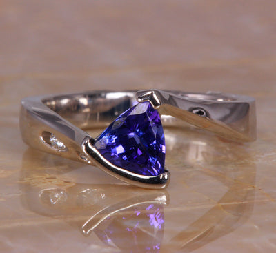 White Gold Tanzanite Ring 1.13 Carats