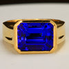 Mens tanzanite ring custom designed