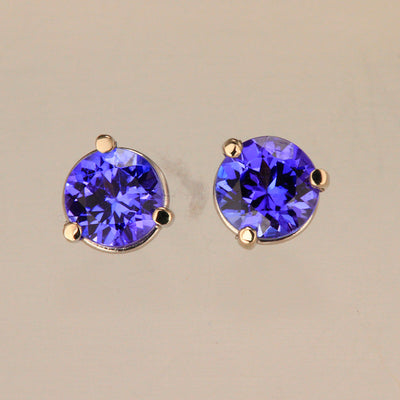Tanzanite Stud Earrings 1.10 Carat
