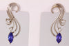 Tanzanite Elegant Swirl Earrings 1.11 Carats