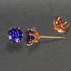 Tanzanite 1.17 Carats in Rose Gold Studs