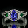Tanzanite Diamond and Tsavorite Ring