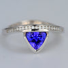 Tanzanite and Diamond Ring 1.18 Carats