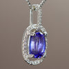 Large Tanzanite & Diamond Pendant 4.64 Carats