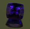 6.14 Carat Square Antique Cushion Tanzanite with Violet Blue Exceptoional Plus Color