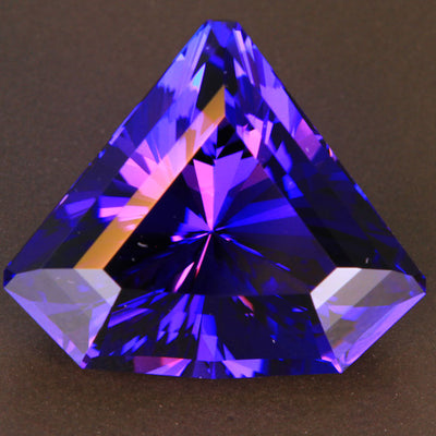 Blue Violet Shield Tanzanite Gemstone 26.10 Carats