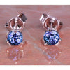 14kt Gold Tanzanite Stud Earrings .89 Carat