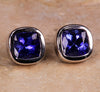 Tanzanite Earrings 2.47 Carat Blue Violet Vivid Color