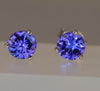 Brilliant Tanzanite Earrings 1.26 Carat