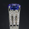 Tanzanite Ring With Fine Diamonds and 4.35 Carat Tanzanite