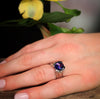Tanzanite Diamond Ring With Precision Cut AAA Tanzanite