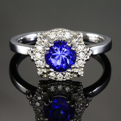 Tanzanite Ring by Christopher Michael with Fine Diamonds