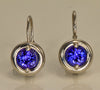 Drop Tanzanite Earrings 1.38 Carat