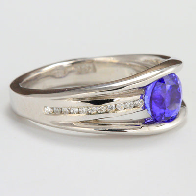 Tanzanite and Diamond Ring 1.62 Carats by Christopher Michael