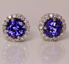 Tanzanite Earrings 1.91 Carat BVV Color