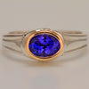 Tanzanite Ring 14kt and Sterling 1.45 Carats
