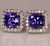 Tanzanite Earrings 2.70 Carat BVV Color