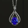 Tanzanite Pendant 2.81 Carat in 14kt. White Gold