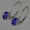 Lever Back Tanzanite Earrings 1.20 Carats