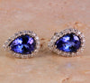 Tanzanite Earrings 2.68 Carat Blue Violet Vivid Color