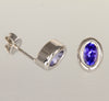Bexeled tanzanite earrings