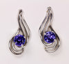 Tanzanite Earrings 1.34 Carat BVV Color