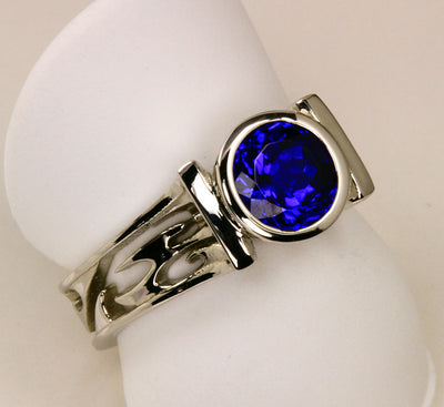 Tanzanite Ring Designed By Christopher Michael 1.71 Carat