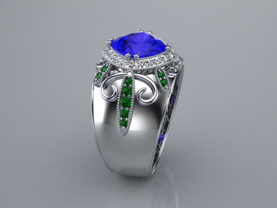 Tanzanite Ring With Diamond