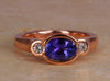 Christopher Michael Designed Rose GoldTanzanite Ring