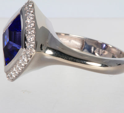 Tanzanite Ring Designed By Christopher Michael 3.97ct