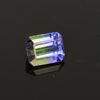 Natural Unheated Bi-Color Emerald Cut  Tanzanite Gemstone 1.28 Carats