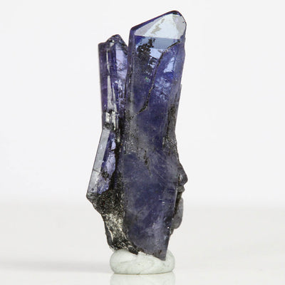Raw Tanzanite Crystal Cluster on Matrix