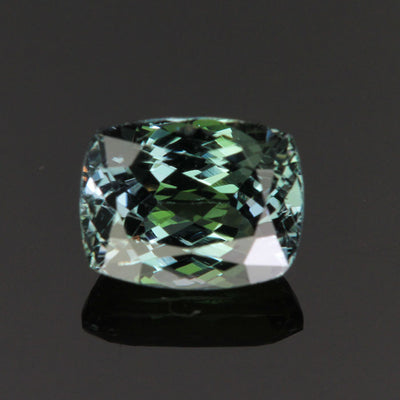 Natural Unheated Blue Green Antique Cushion Tanzanite Gemstone 2.84 Carats