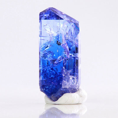 Vibrant Blue Tanzanite Crystal in the raw