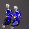 14k Rose Gold Tanzanite Stud Earrings with Diamonds On Hold for Guy